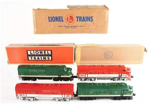 LOT OF 4: LIONEL NO. 2356 SOUTHERN AND NO. 2245 TEXAS