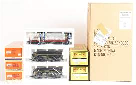 LOT OF 6: CONTEMPORARY LIONEL ENGINES AND ACCESSORIES.