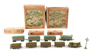 LOT OF 9: NO. 233 AND NO. 296 LIONEL BOXED SETS.