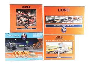 LOT OF 4: LIONEL TRAIN SETS.