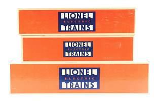 LOT OF 3: LIONEL TRAINS.