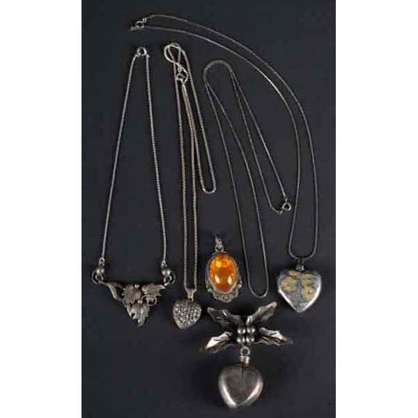 1: Lot of 6: Sterling Jewelry Pieces.