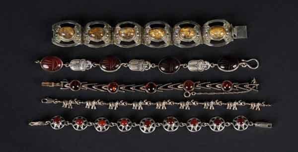 3: Lot of 5: Silver Bracelets.