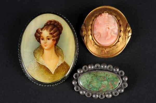 23: Lot of 3: Victorian Pins.