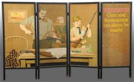 882: Winchester Ad Screen with 4 Panels.