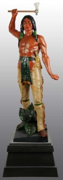 1138: Metal Indian Brave Tobacco Figure.