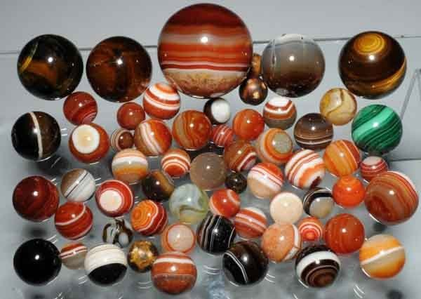 1201: Lot of 59: Assorted Marbles.