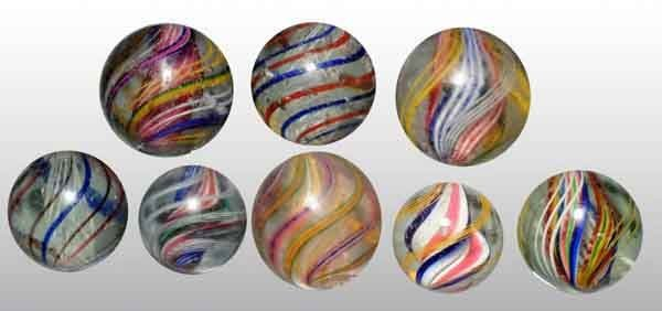 1206: Lot of 8: Handmade Marbles.