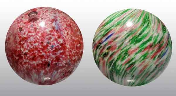 1209: Lot of 2: Handmade Marbles.