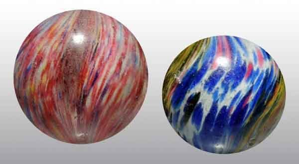 1210: Lot of 2: Handmade Marbles.