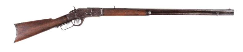 (A) WINCHESTER MODEL 1873 .38 WCF LEVER ACTION RIFLE