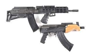 (M) LOT OF 2: CENTURY ARMS M74 SPORTER BULLPUP RIFLE &