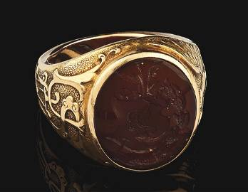 EXTRAORDINARY 1893 WEST POINT ACADEMY USMA GOLD RING