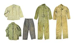 LOT OF 5: USN AND USMC FATIGUES