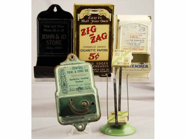5: Lot of 5: Small Tin Advertising Pieces.