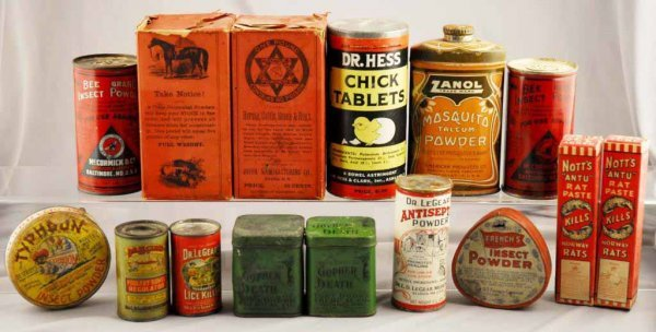 15: Lot of 15: Assorted Product Containers.