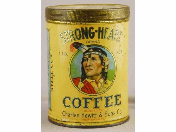 24: Strong Heart Coffee Tin.