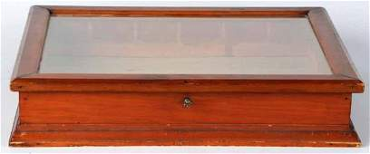 125 Empty Wooden Display Case with Glass Top