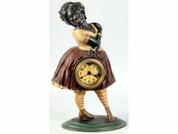 226: Black Lady Blinking Eye Clock.