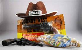 359: Lot of 4: Vintage Western Toy Items.
