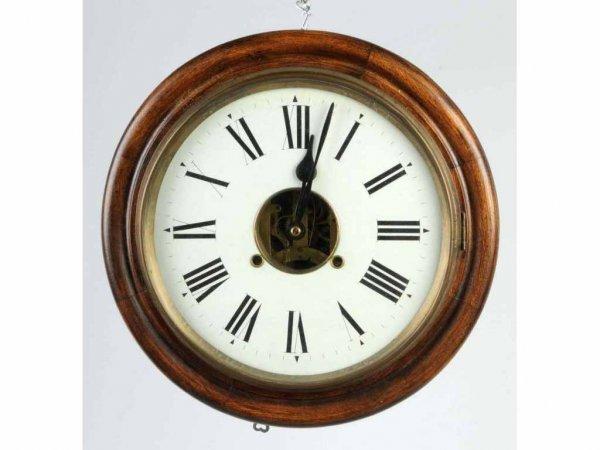 1: Early Oak Round Clock.