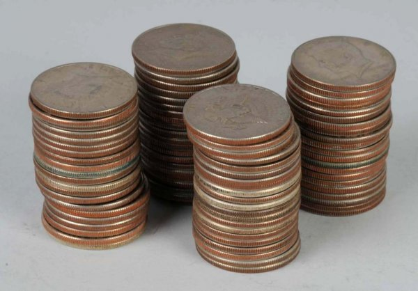 8: Lot of 82: Kennedy Half Dollars.