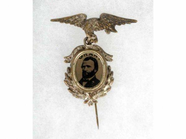 13: General Grant Ferrotype Pin.