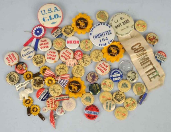14: Lot of Political Buttons.