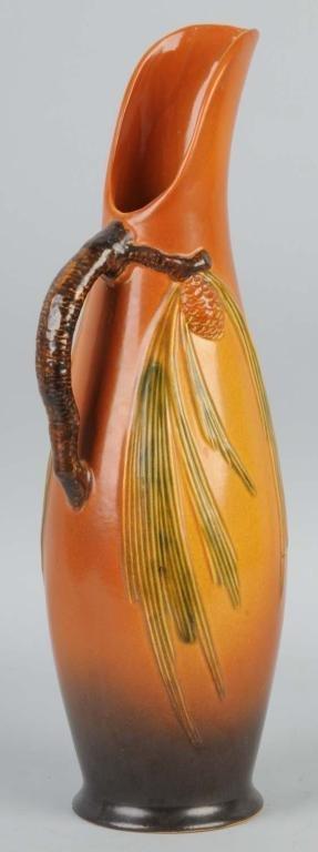 21: Roseville Brown Acorn Vase.