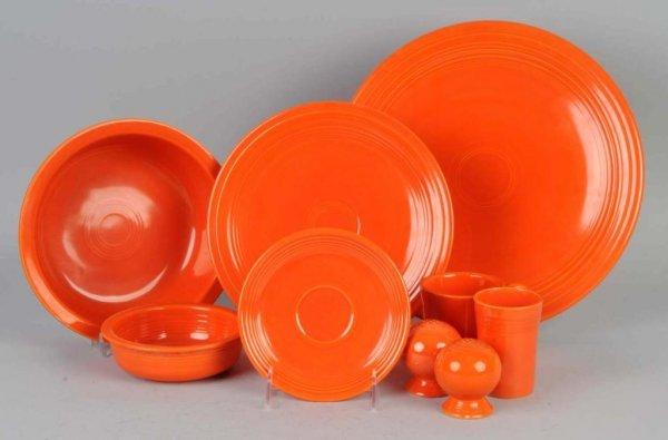 22: Lot of Orange Colored Fiestaware.