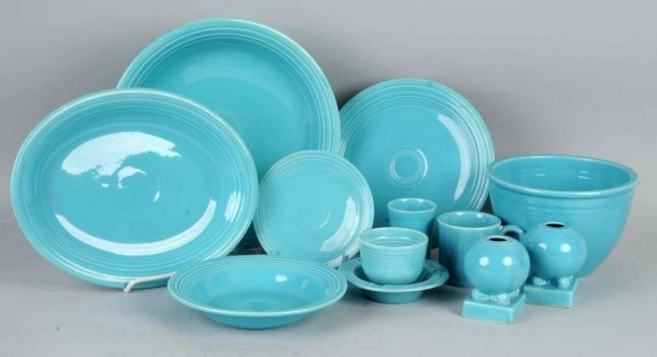 23: Lot of Turquoise Colored Fiestaware.