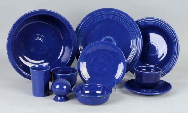 24: Lot of Dark Blue Colored Fiestaware.