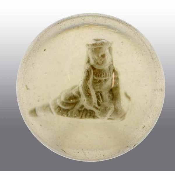 11: Seated Child Sulfide Marble.