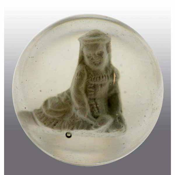 12: Seated Child Sulfide Marble.