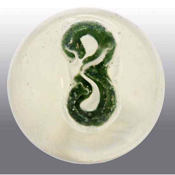 14: Painted Number 3 Sulfide Marble.