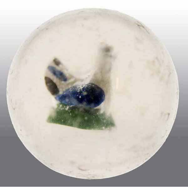 21: Tri-Color Painted Hen Sulfide Marble.