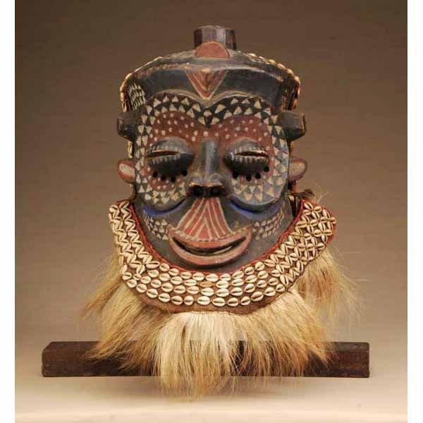 307: Central African Luba Shankadi Mask.