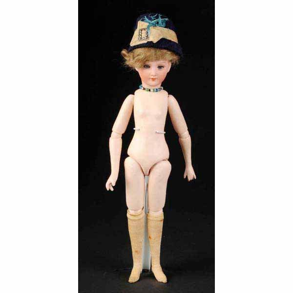 910: Rare and Lovely Bisque COD 1469 Lady Doll.