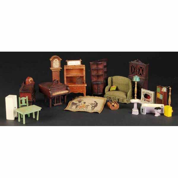 915: Lot of Doll House Furniture and Accessories.