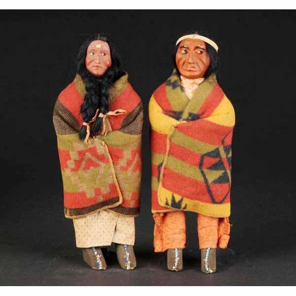 916: Lot of 2: Skookum Indian Dolls.