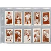 1004 1938 Churchman Boxing Personalities Tobacco Cards