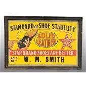 1306 Lot of 2 Star Brand Shoe Advertising Signs