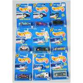 1597 Lot of 9 Mattel Hot Wheels Blue Card Vehicles