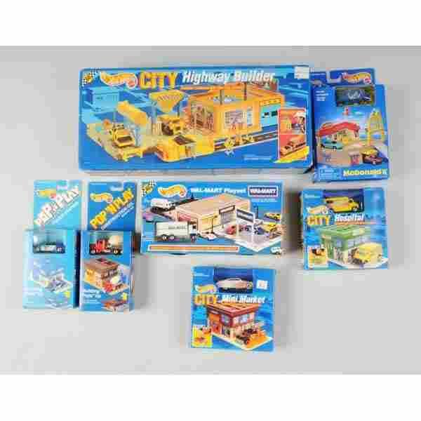 Lot of 7: Mattel Hot Wheels Vehicle Sets.