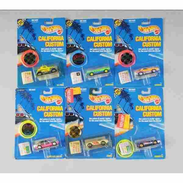 1681: Lot of 24: Mattel Hot Wheels California Customs.