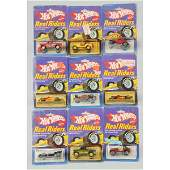 1770 Lot of 9 Mattel Hot Wheels Real Riders Toy Cars