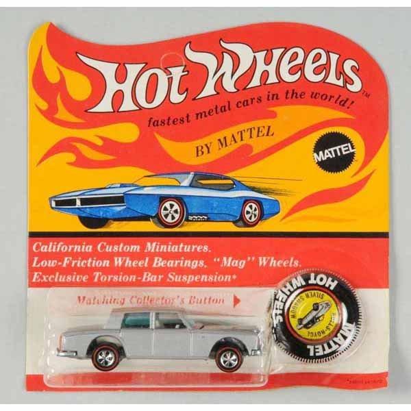 1778: Hot Wheels Red Line Rolls Royce Silver Shadow Car