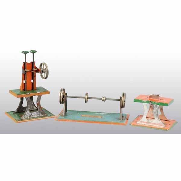 1802: Lot of 3: Weeden Steam Toy Accessories.