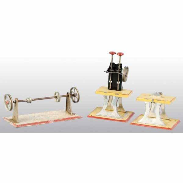 1804: Lot of 3: Weeden Steam Toy Accessories.