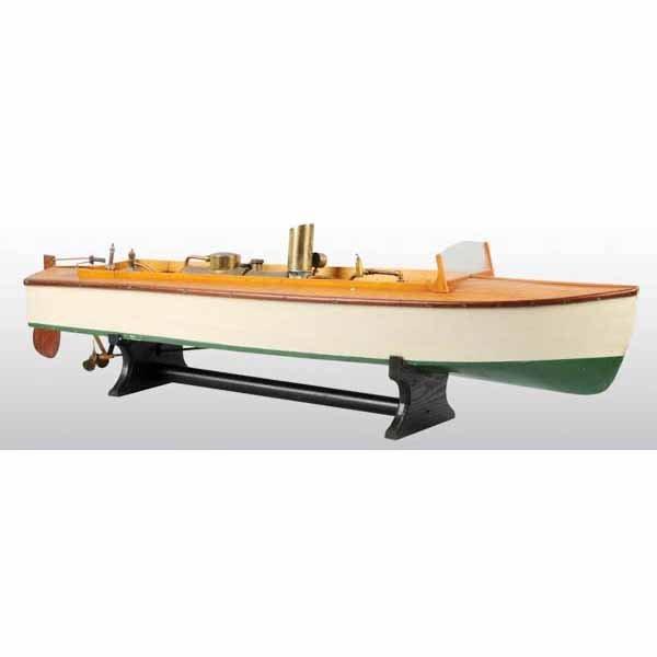 1817: Wooden Boucher Live Steam Boat Toy.